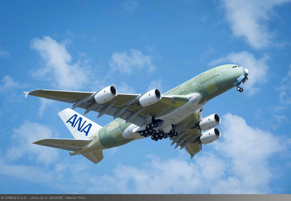 フランス・トゥールーズからドイツ・ハンブルクへ9月17日に初飛行した(写真提供:エアバス社)