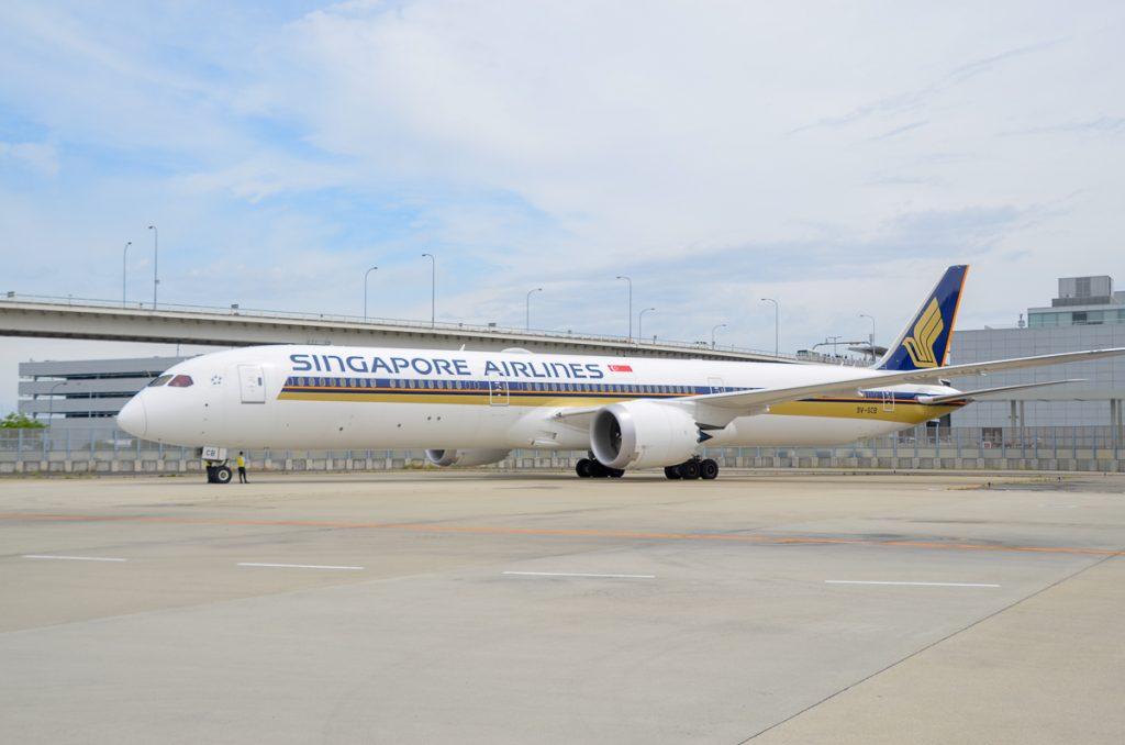 シンガポール航空は日本路線にボーイング787-10型機を積極的に投入している
