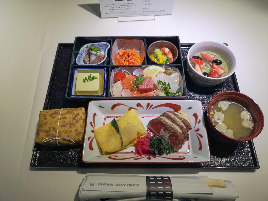 料理プロデューサー 狐野扶実子シェフ監修のビジネスクラスの和食メニュー