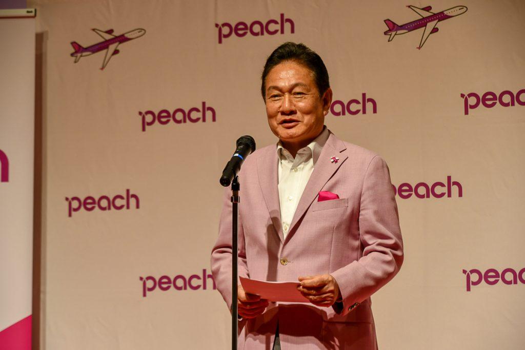 バニラエアの社長も兼務するピーチの井上慎一CEO