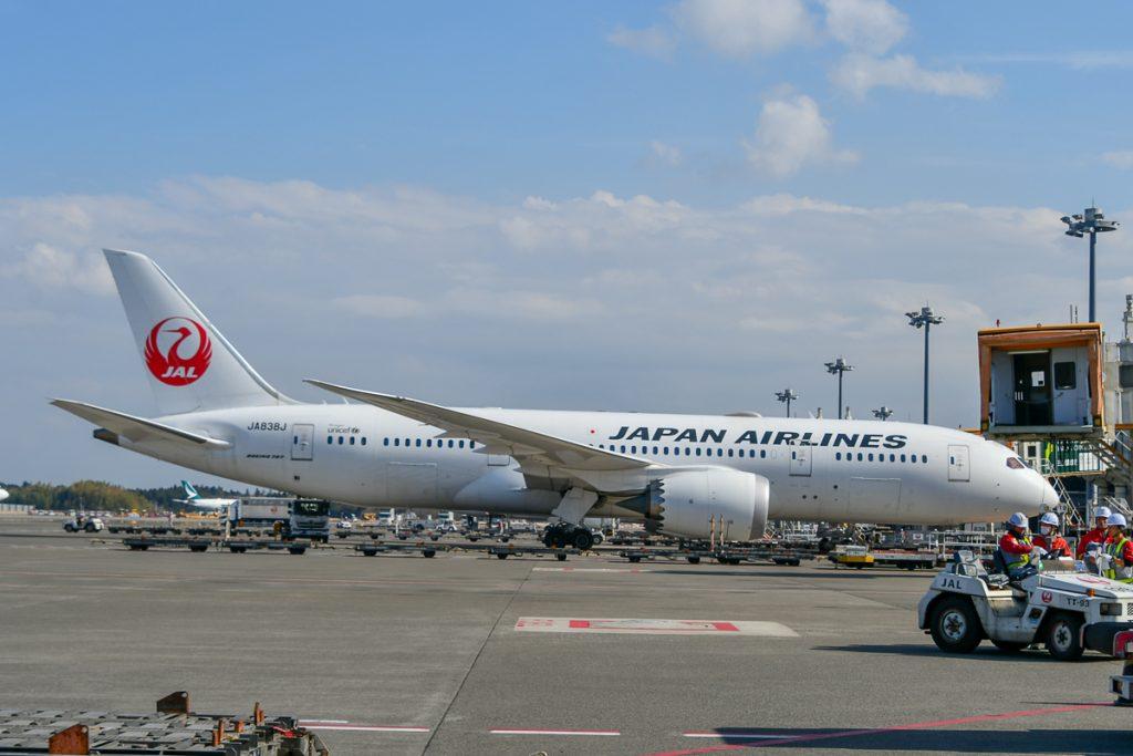 成田~シアトル線はボーイング787-8型機で運航