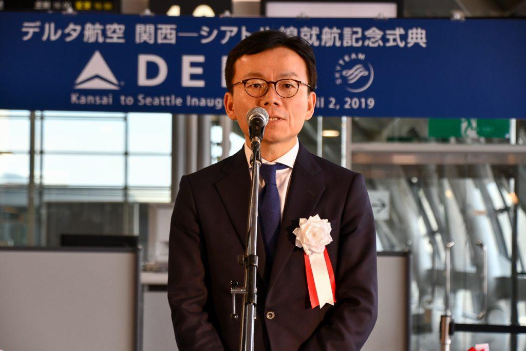 デルタ航空日本地区空港本部の田中勇三本部長