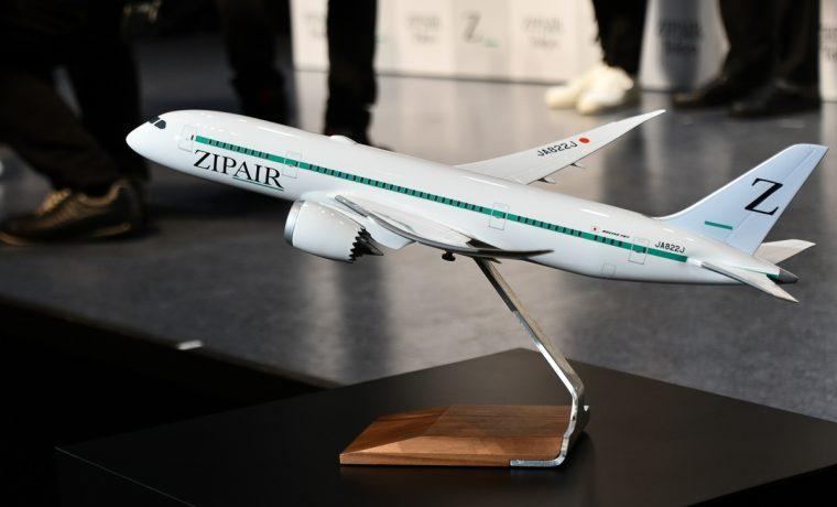 ZIPAIRの機体デザイン