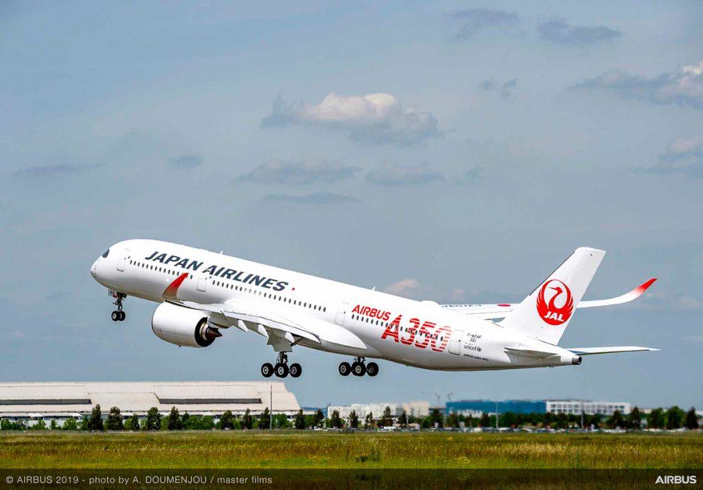 トゥールーズから羽田空港へ向けて離陸(画像提供:エアバス社)