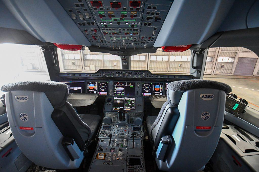 A350型機のコックピット