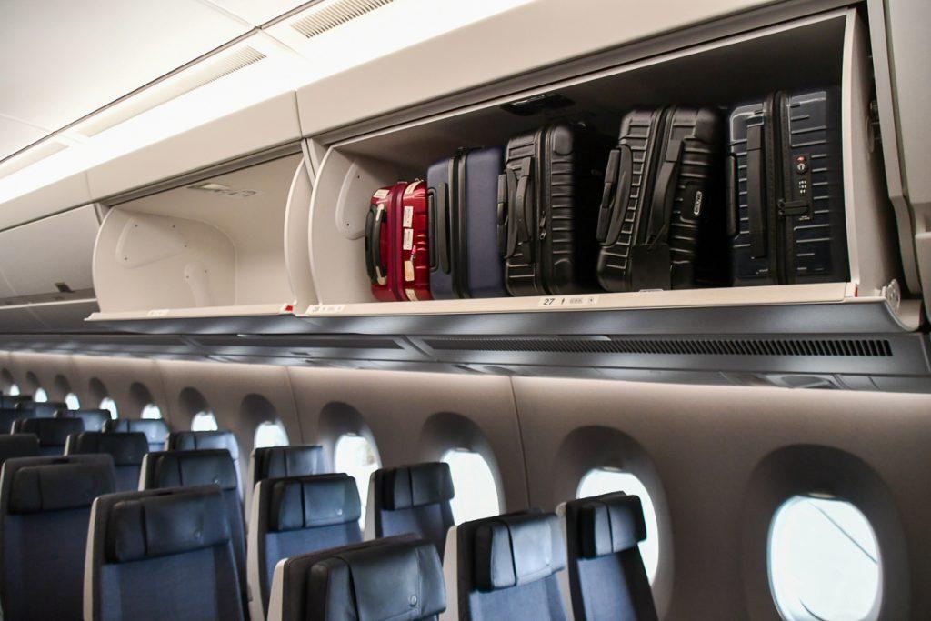 機内の収納スペースが大きくなった