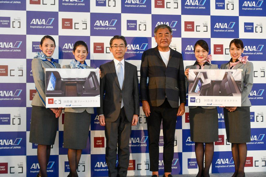 ANAの平子裕志社長も内覧会イベントに参加した