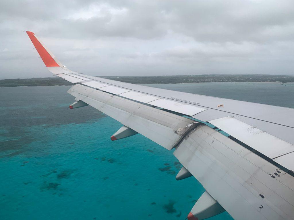 下地島空港着陸直前