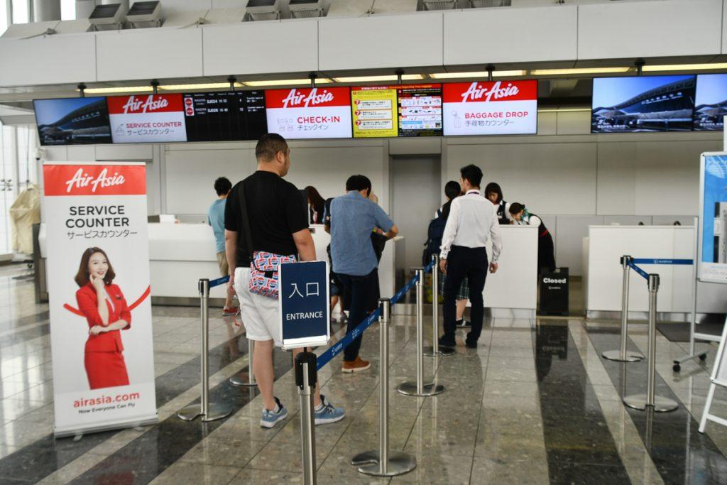 仙台空港エアアジア・ジャパンチェックインカウンター