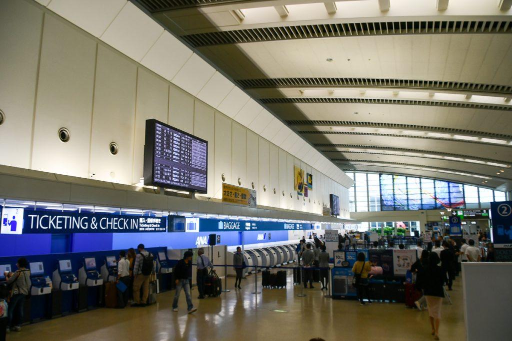 那覇空港3階にあるチェックインカウンター